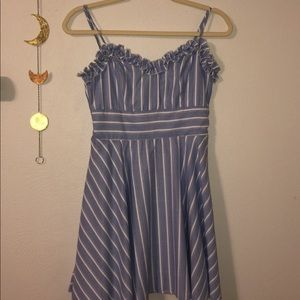 Altar'd State Blue and White Dress